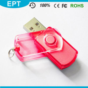 Transparent Plastic Classical Swivel USB Pendrive (EP078) pictures & photos