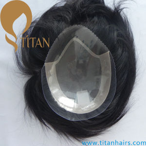 Mono with PU Swiss Lace Front Toupee for Men (TT604) pictures & photos