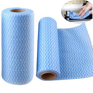 Tear off Point Roll Dishcloth Nonwoven Microfiber Cleaning Cloth pictures & photos