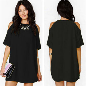 2015 Women′s Summer Sexy Chiffon Casual Short Mini Dress (50114-1) pictures & photos