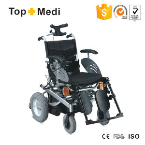 European Type Medical Equipment Powered Steel Reclining Wheelchair with Lamp pictures & photos