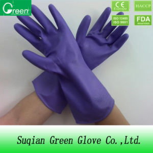 Household Glove/Cleaning Glove/Natural PVC Glove pictures & photos