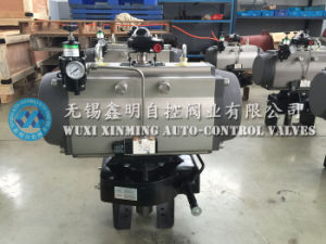 Pneumatic Valve Actuator with Air Filter, Limit Switch Box and Manual Wheel pictures & photos
