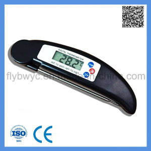 Digital Food Meat Folding Portable Thermometer for Cooking Kitchen BBQ Thermometer Black pictures & photos