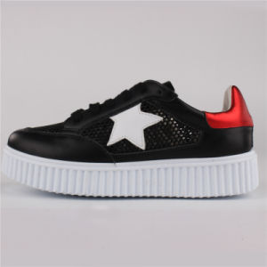 Women Shoes PU/Leather/Mesh Shoes Casual Shoes Snc-65003 pictures & photos