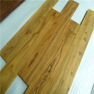 UV Lacquered Water Resistant Solid Chinese Teak Wood Flooring