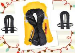 Marine Inflatable Single Air Chamber Life Jacket pictures & photos