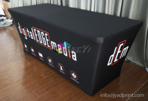 Customized No Wrinkle Elasticity Fabric Exhibition Table Display with Zipper pictures & photos