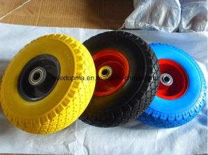 350-4 Flat Free PU Wheel pictures & photos