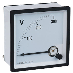 Analog Panel Meter Moving Coil Voltmeter pictures & photos