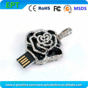 Customize Logo Rose Shaped Memory Stick USB Pen Drive (ES125) pictures & photos