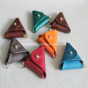 Hand Made Genuine Leather Triangle Coin Purse pictures & photos