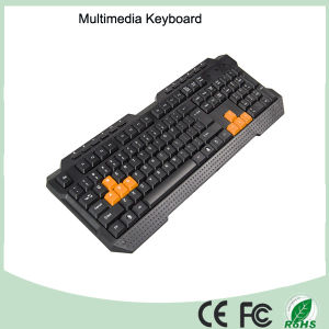 ABS Materials Wired Type Ergonomics Multimedia Computer Game Keyboard (KB-1688M-O) pictures & photos