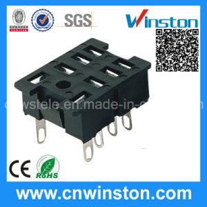 General Miniature Square Type Electro-Magnetic Power Relay Socket with CE pictures & photos