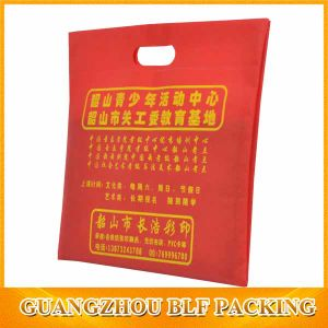 One Color Printing Die Cut Handle Non Woven Bag (BLF-NW014) pictures & photos