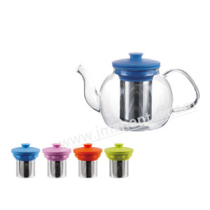 Wholesale Handblown Borosilicate Glass Teakettle Teapot with Handle pictures & photos