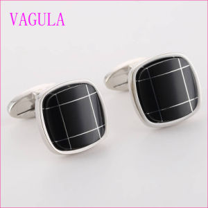 VAGULA Quality Hot Sales Quality Onyx Silver Gemelos Cuff Links   (322) pictures & photos