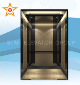 Passenger Elevator with Black Mirror Stainless Finish
