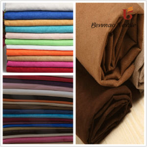 Dyed Suede Fabric/ Woven Suede Fabric/ Suede Fabric for Garment pictures & photos