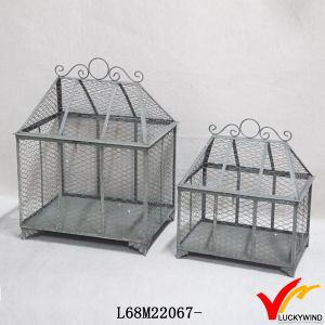 Set 2 Handcraft Vintage Gray Metal Wire Mesh Food Covers pictures & photos