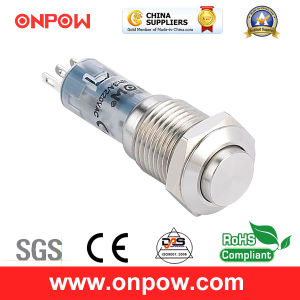 Onpow 12mm Push Button Switch (LAS4GQH-11/S) pictures & photos