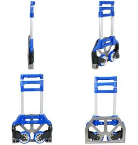Folding Aluminium Ladder with Blue Color pictures & photos