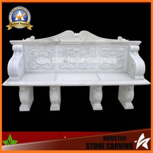 White Marble Carving Four Seats Bench for Square Place Decoration (NS-11B5) pictures & photos