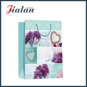 Matte Laminated Ivory Paper Love Flowers Shopping Gift Paper Bag pictures & photos