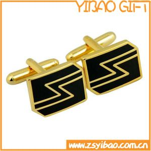 High Quality Metal Cufflink with Gold Plated (YB-r-013) pictures & photos