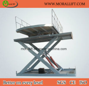 CE Certification Scissor Car Lift with Turntable pictures & photos