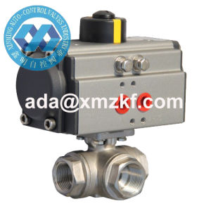 Pneumatic Components 3 Way Thread End Ball Valve pictures & photos