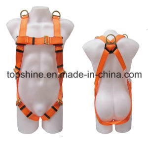 China Professioanl Professional Adjustable Working Polyester Full-Body Safety Harness Belt pictures & photos