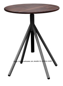 Industrial Metal Restaurant Wooden Vintage Swivel Gray Dining Table pictures & photos