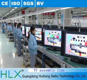 Flat Circulatory TV Assembly Line in Hlx pictures & photos