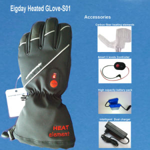 SAVIOR Genunie Leather Heated Glove for Winter pictures & photos