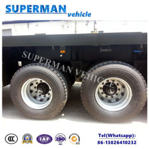 Three Axle 13.5m Flatbed Container Semi Trailer for Sales pictures & photos