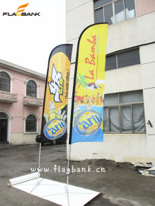 4.5m Exhibition Aluminium Digital Printing Flying Banner/Feather Flag pictures & photos