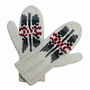 Lady Fashion Wool Nylon Knitted Winter Warm Gloves (YKY5418) pictures & photos