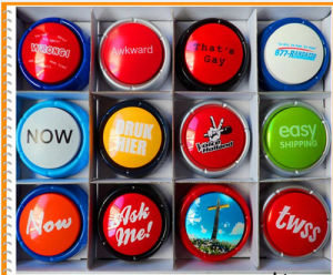 Various Easy Button/Recordable Button/Talking Button with Custom Voice and Logo pictures & photos