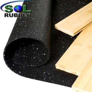 SGS Certificated Acoustic Underlayer Rubber Flooring pictures & photos