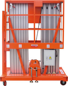 Hydraulic Double Mast Aluminum Alloy Aerial Working Lift (DL8-200) pictures & photos