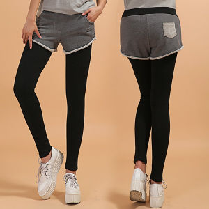 Brushed Heavy Girl Winter Leggings with Shorts