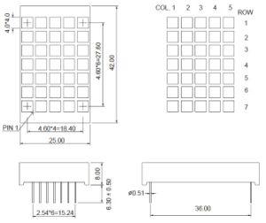 1.2 Inch 5X7 LED Square DOT Matrix pictures & photos
