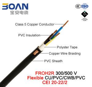Froh2r, Control Cable, 300/500 V, Flexible Cu/PVC/Cwb/PVC (CEI 20-22/2) pictures & photos