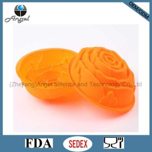 Big Rose Flower Silicone Cake Mold Silicone Cake Pan Sc08 pictures & photos