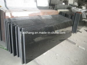 China Polished Black Galaxy Granite Tile/Slab pictures & photos