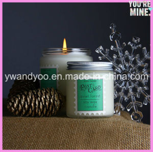 Decorative Scented Soy Jar Candle with Lid pictures & photos