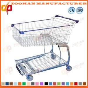 Wire Metal Steel Supermarket Shopping Trolley Warehouse Cargo Cart (Zht181) pictures & photos