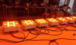 12PCS Rgbaw Flat Housing Wireless 6in1 LED PAR Light pictures & photos