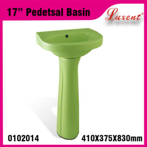 Earthware Whole Sale out Door High Quality Hair Wash Pedestal Sink Pink pictures & photos